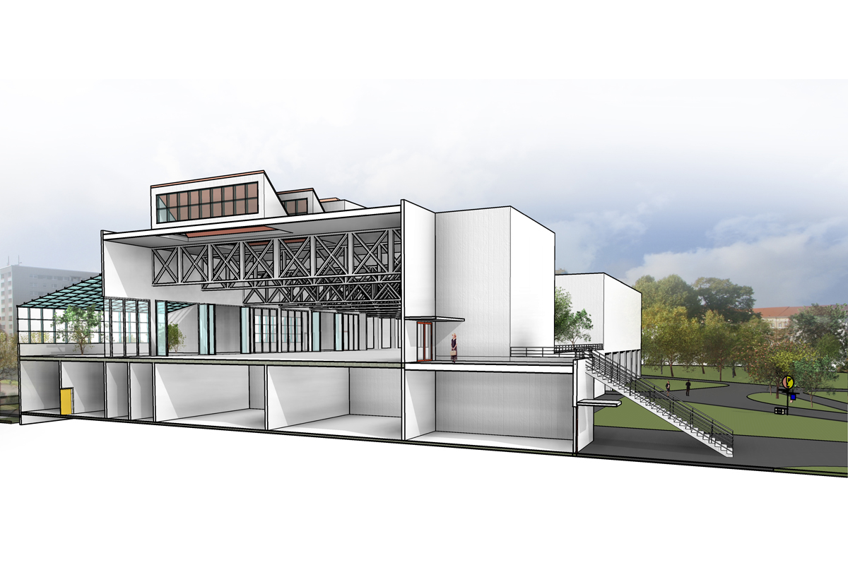 Bauhaus Museum Dessau Competition Entry – Baker Vilar Architects