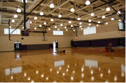 The brand new gym at Helms. (Photo courtesy of West Contra Costa USD.)